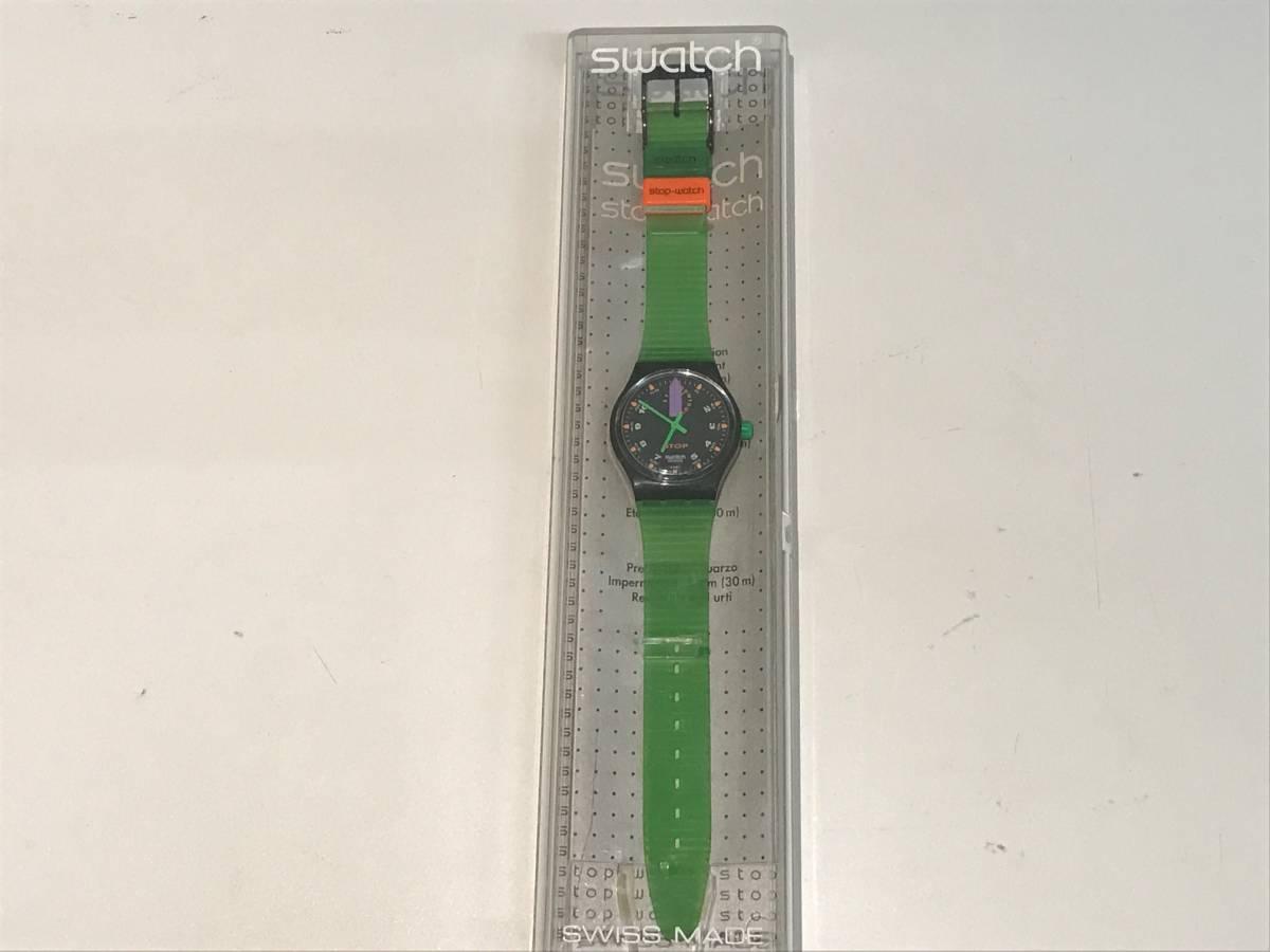 □3616□Swatch/スウォッチ 黒緑 SSB100 ジャンク!_画像8