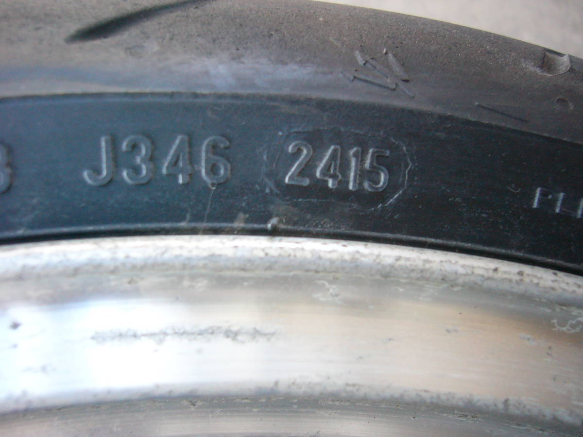 ZZR1100 D フロントホイール&タイヤ 3.50×17 120/70ZR17  ピレリ ディアブロロッソコルサ GPZ900R流用など_画像5