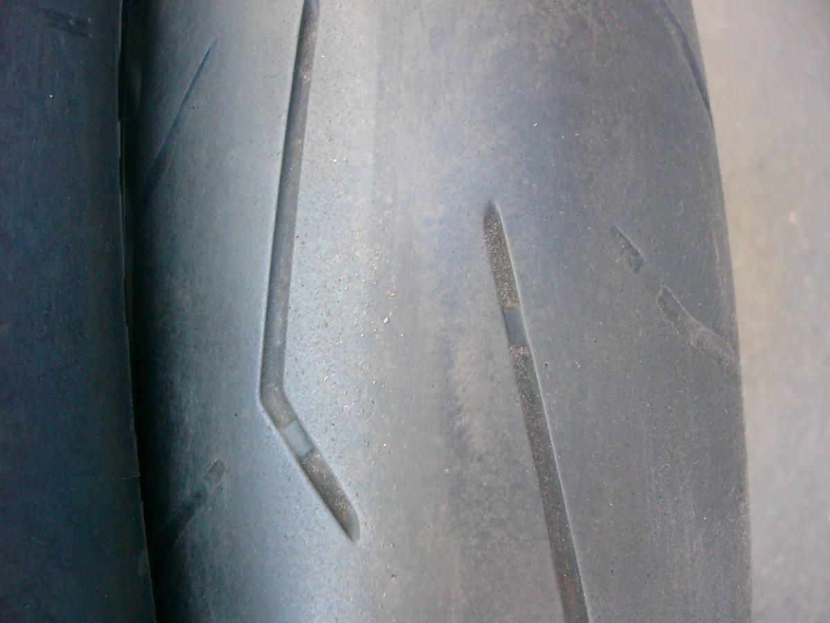 ZZR1100 D フロントホイール&タイヤ 3.50×17 120/70ZR17  ピレリ ディアブロロッソコルサ GPZ900R流用など_画像6