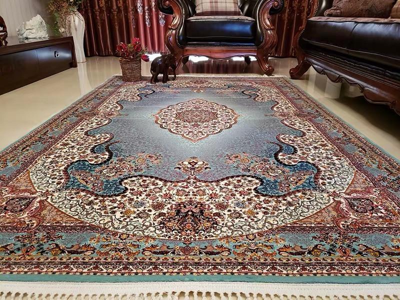 ペルシャ絨毯 シルク100% 手織り絨毯150*225cm