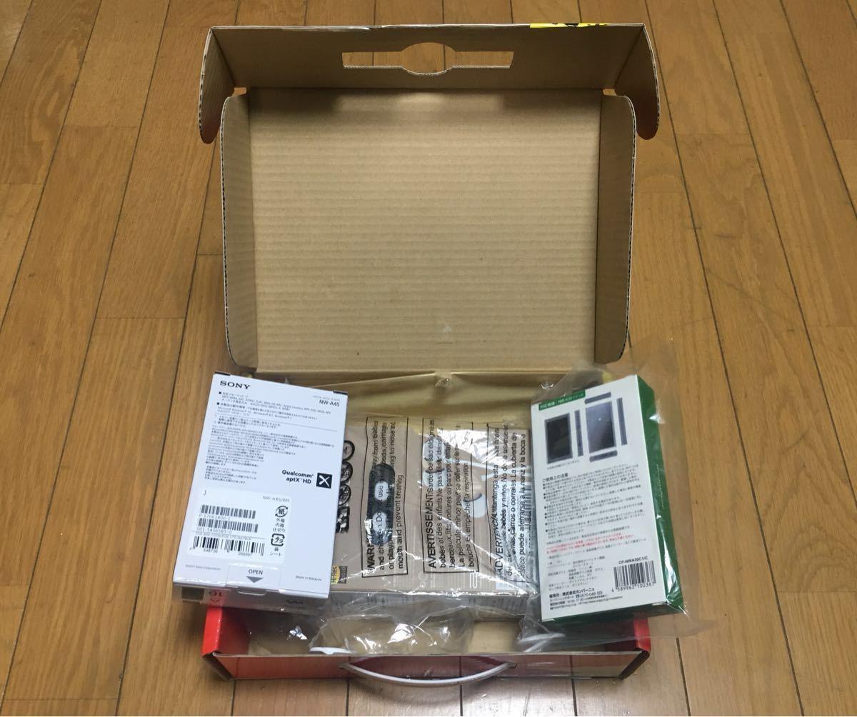 ヨドバシ 夢のお年玉箱 SONY NW-A45 16GB グレイッシュブラックAKG N25 ハイレゾ 密閉カナル型イヤホンFULLARMOR CASE 新品・未開封 _画像4