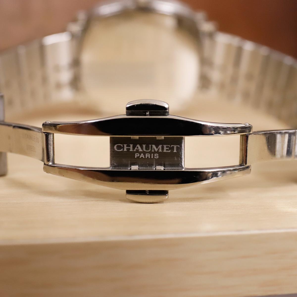 本物 ショーメ 自動巻 ダンディ オートマチック メンズ 純正メタルブレスレットモデル 機械式時計 スイス製 正規品 CHAUMET_画像8