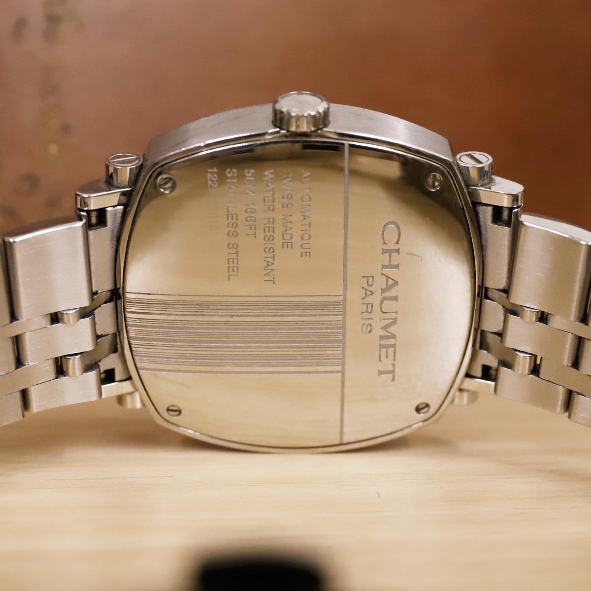 本物 ショーメ 自動巻 ダンディ オートマチック メンズ 純正メタルブレスレットモデル 機械式時計 スイス製 正規品 CHAUMET_画像7