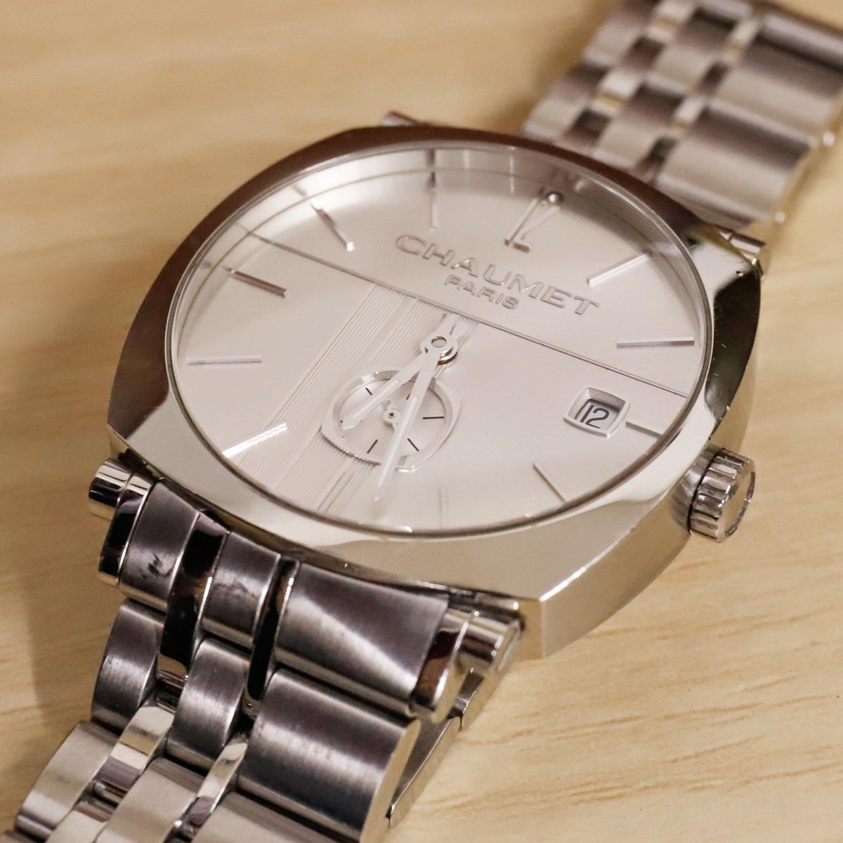 本物 ショーメ 自動巻 ダンディ オートマチック メンズ 純正メタルブレスレットモデル 機械式時計 スイス製 正規品 CHAUMET_画像4