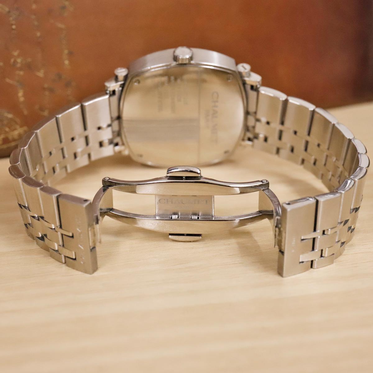 本物 ショーメ 自動巻 ダンディ オートマチック メンズ 純正メタルブレスレットモデル 機械式時計 スイス製 正規品 CHAUMET_画像6