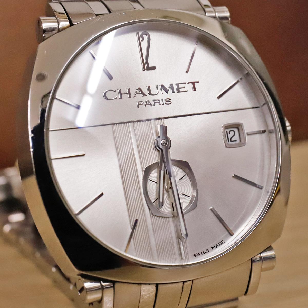 本物 ショーメ 自動巻 ダンディ オートマチック メンズ 純正メタルブレスレットモデル 機械式時計 スイス製 正規品 CHAUMET_画像2
