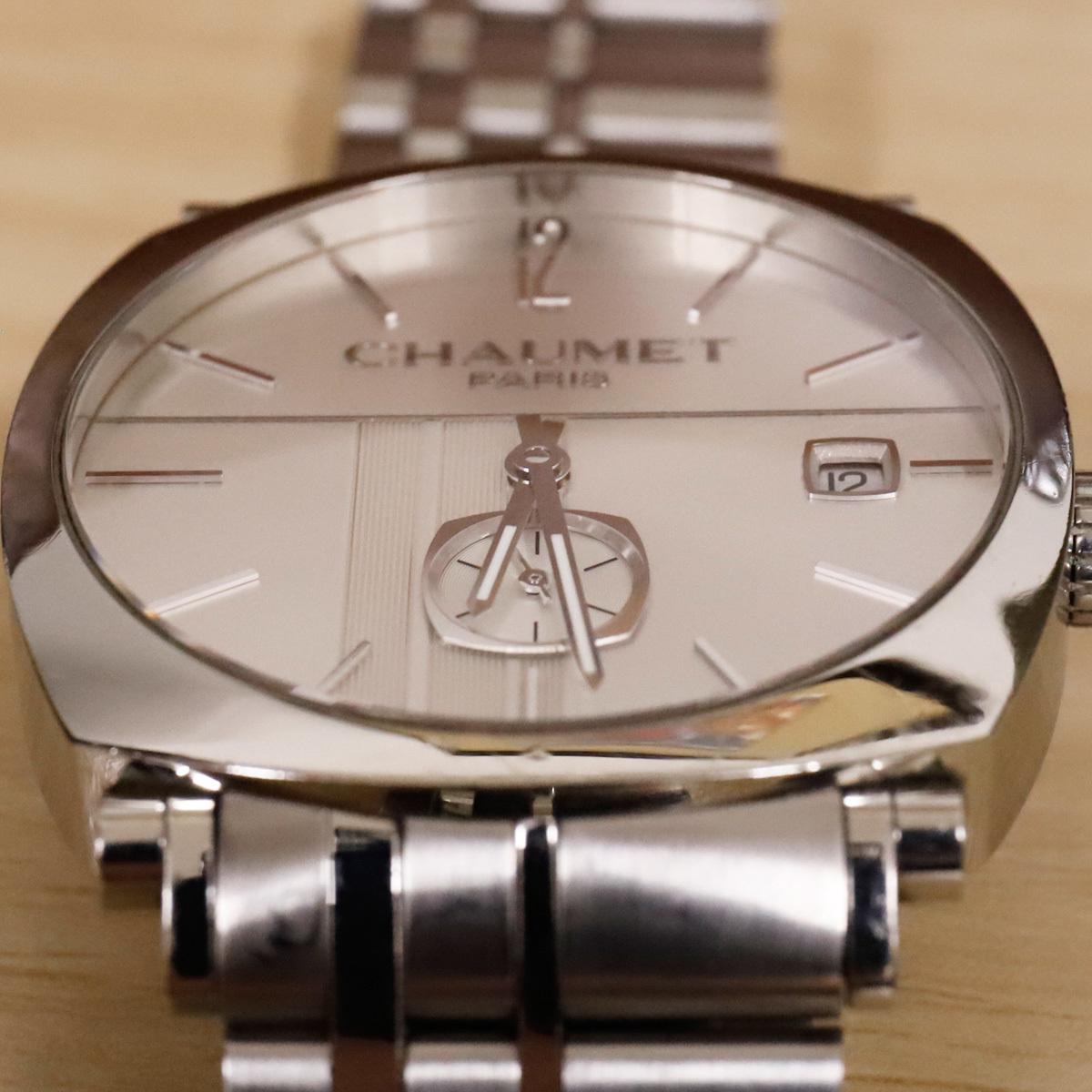 本物 ショーメ 自動巻 ダンディ オートマチック メンズ 純正メタルブレスレットモデル 機械式時計 スイス製 正規品 CHAUMET_画像3