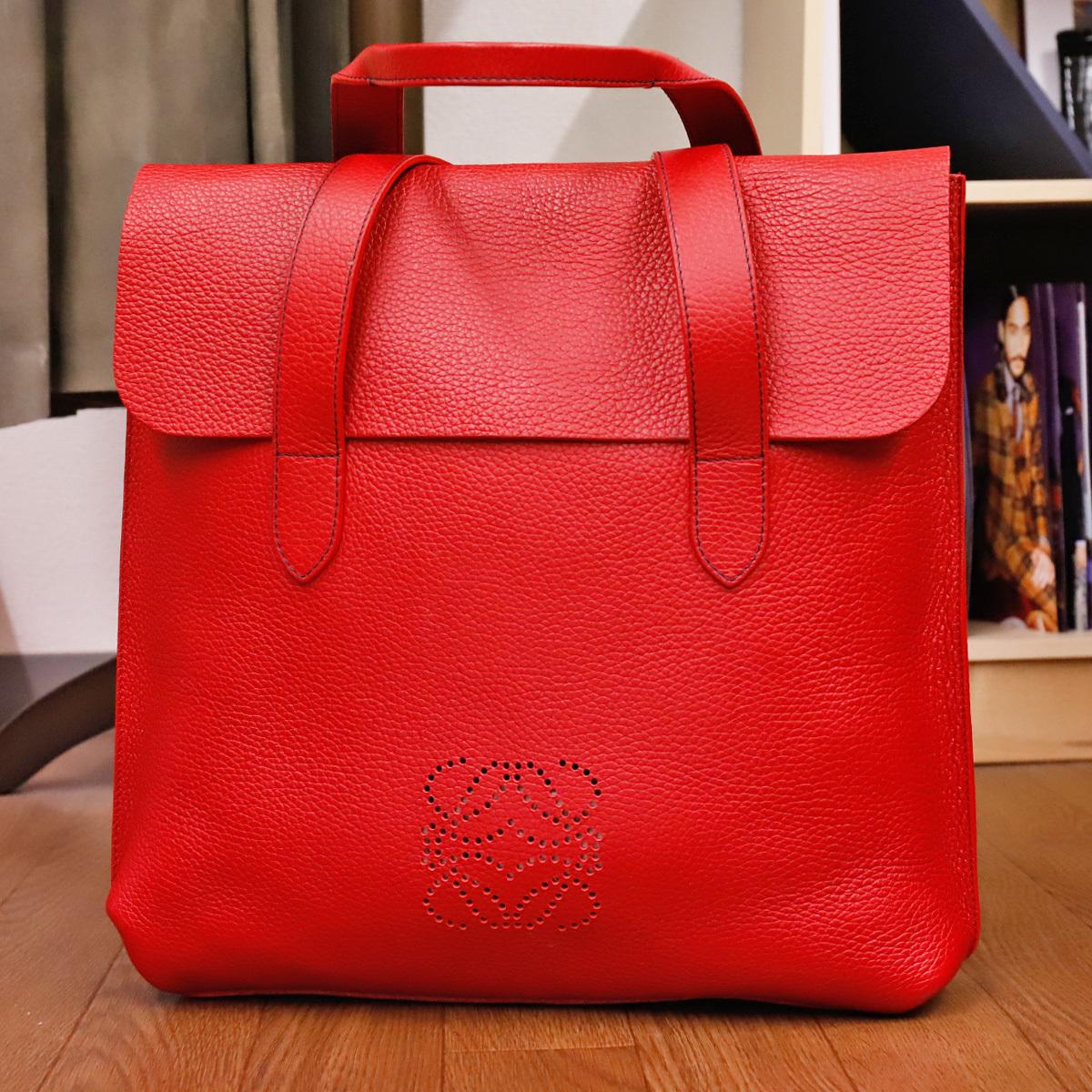 本物 ロエベ 完売モデル メンズコレクションライン トリヨンレザービジネスバッグ(A4書類対応)トートバッグ スペイン製 正規品 LOEWE