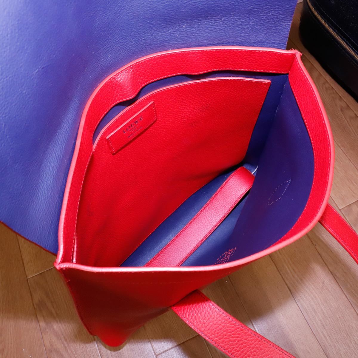 本物 ロエベ 完売モデル メンズコレクションライン トリヨンレザービジネスバッグ(A4書類対応)トートバッグ スペイン製 正規品 LOEWE_画像9