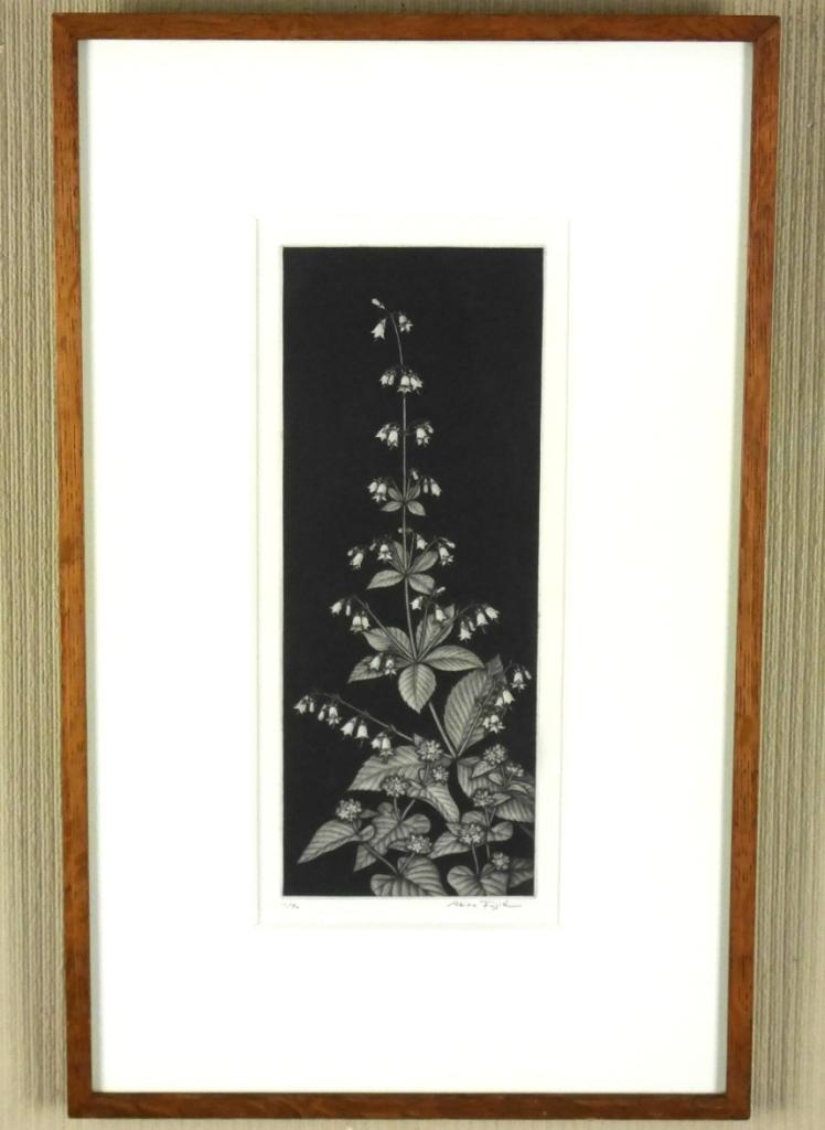 藤江彰『スズラン』◆銅版画◆直筆サイン有◆限定50版!人気作家!多数個展_画像1