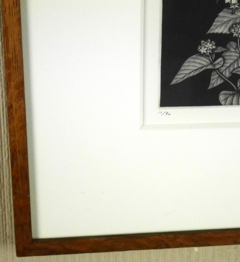 藤江彰『スズラン』◆銅版画◆直筆サイン有◆限定50版!人気作家!多数個展_画像4