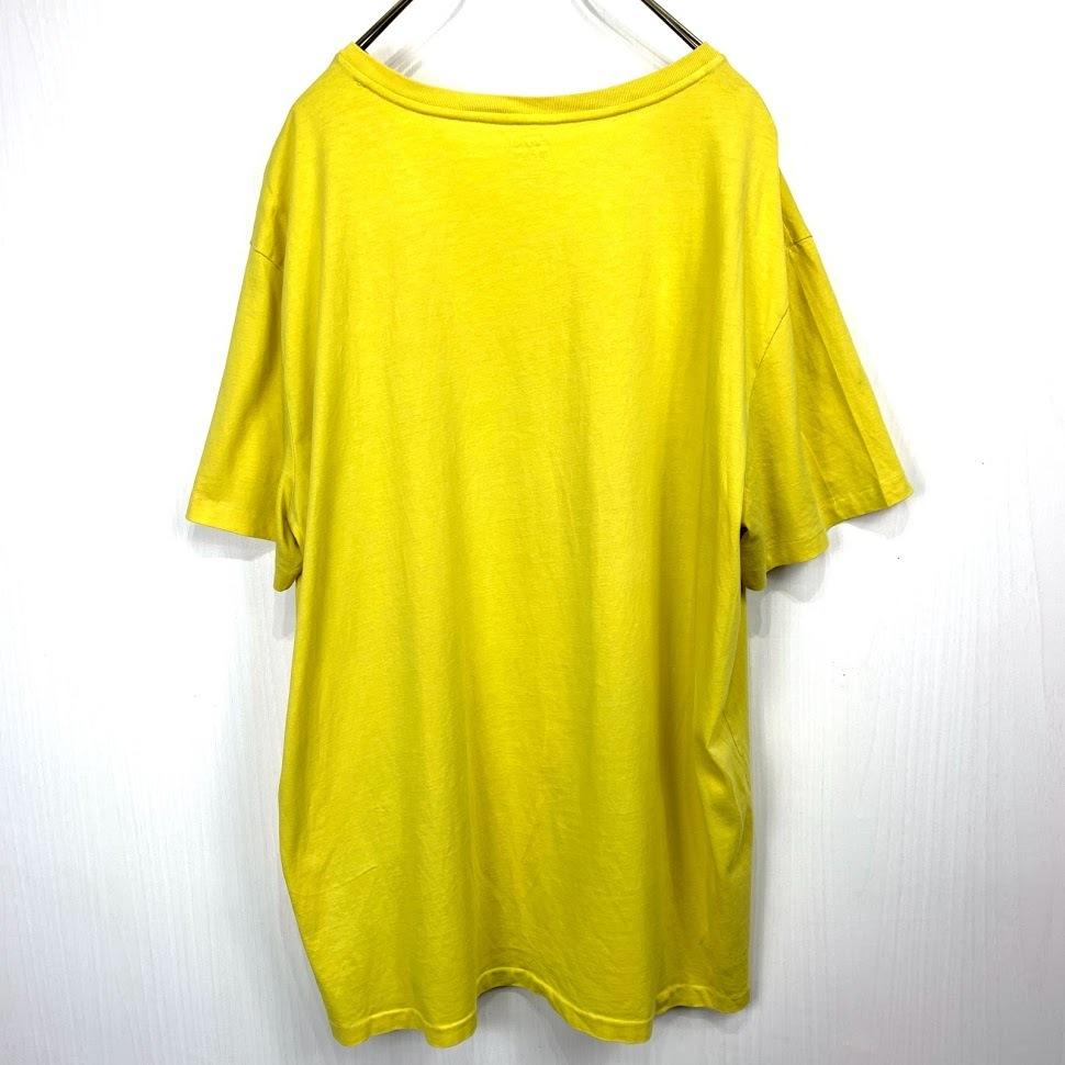 ポロ ラルフローレン Vネック XLサイズ ワンポイント 半袖 カットソー POLO Ralph Lauren メンズ Tシャツ イエロー 黄色_画像5
