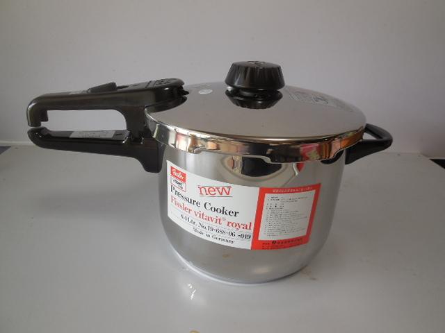 ●Fissler フィスラー圧力鍋 vitavit royal 容量:6L 寸法:22cm ドイツ製高級調理器具_画像4