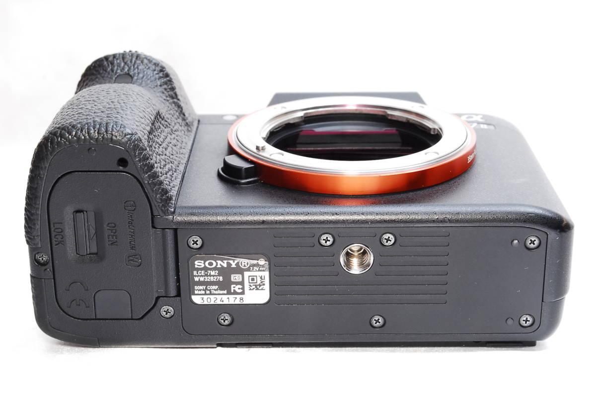 ★【極上美品】SONY α7Ⅱ ILCE-7M2 かるくて高性能なデジタル一眼レフ ミラーレス フルサイズ ★バッテリー 元箱 セミハードシートつき_画像5