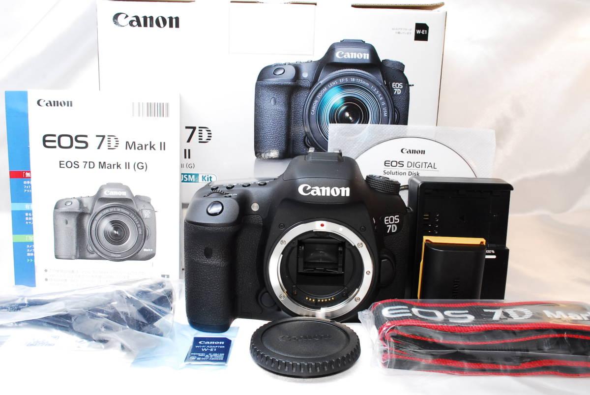 ★【新品級】Canon EOS 7D Mark II マーク2 MK2 MKII ★APS-C機最強一眼レフ ★WiFiアダプター付き ★5 6 60 70 80