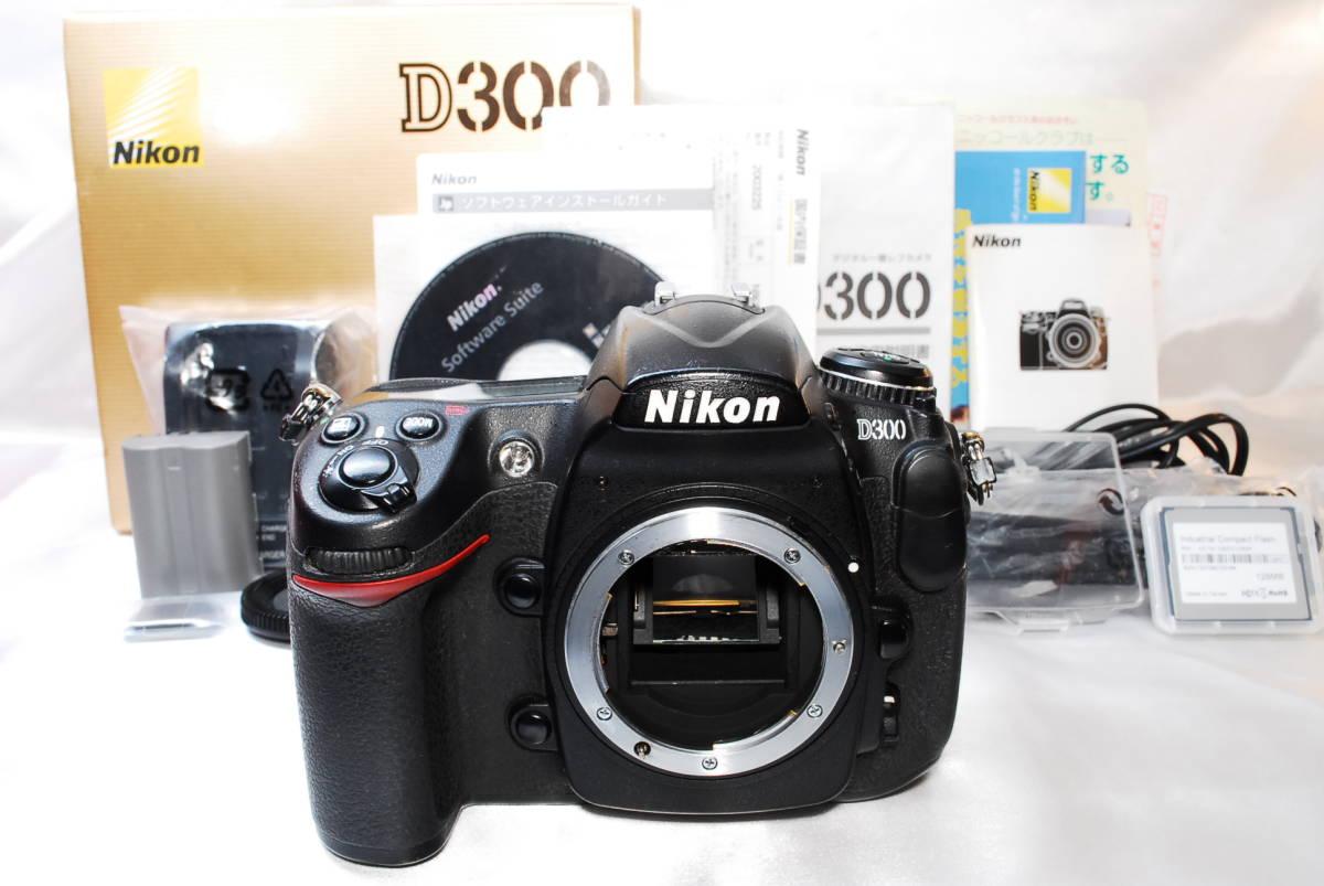 ★【美品】Nikon D300 ★名機と言われたデジタル一眼レフ ★付属品充実!!★バッテリー 充電器 液晶カバー CFカード 取説