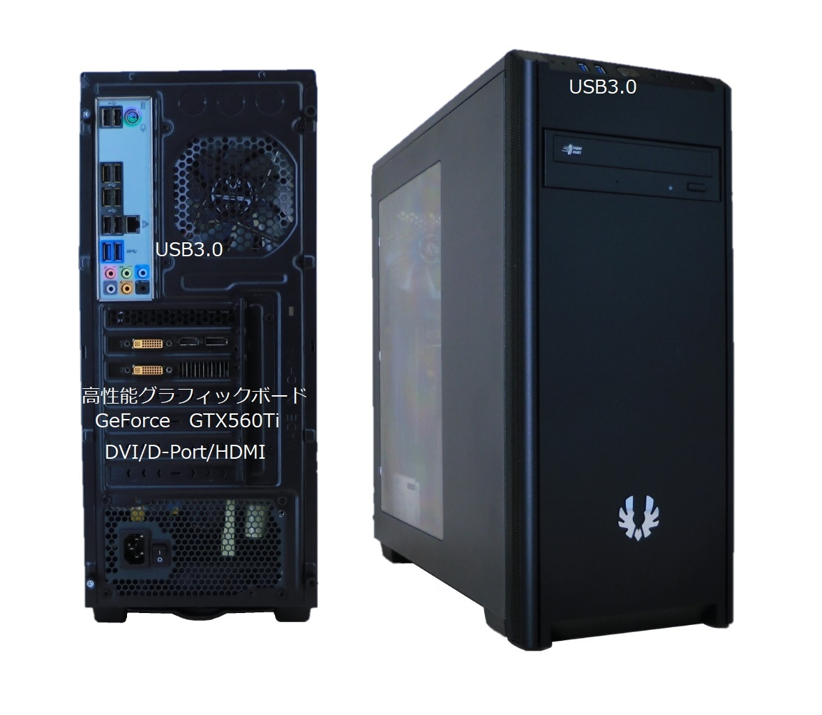 新品ケース!! i7-2600 Office2019 win10 SSD320GB HDD 1TB !!!美品!!!_画像2