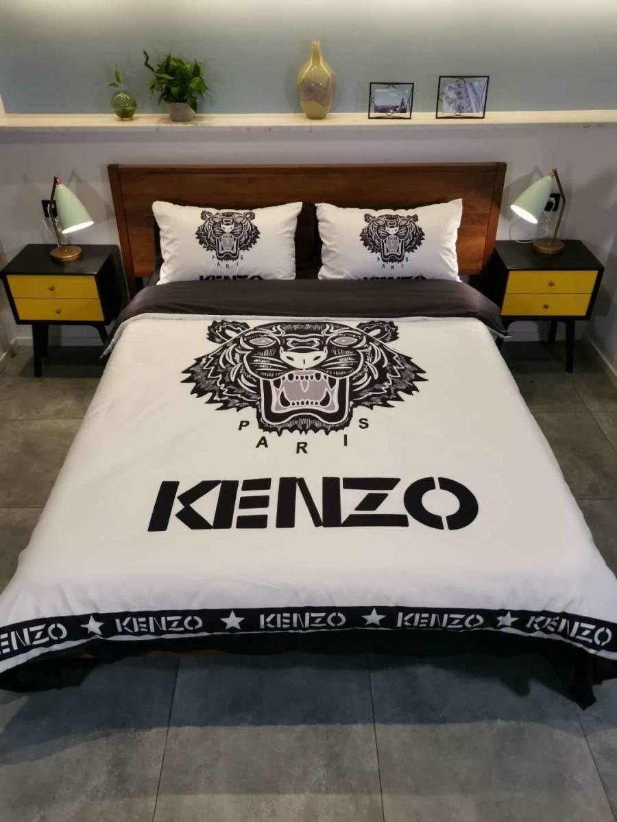 人気★ KENZO 寝具 4点セット掛け  カバーベッドシーツ 極美品 未使用