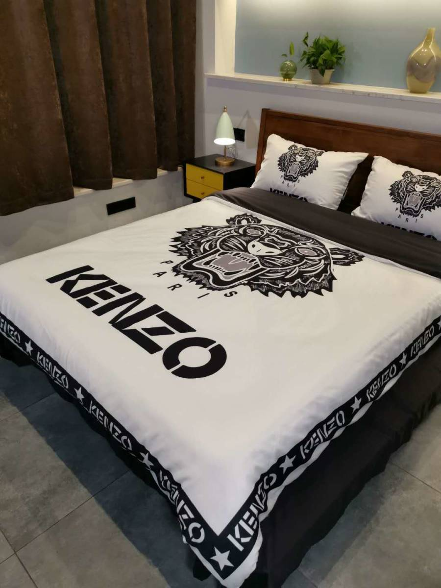 人気★ KENZO 寝具 4点セット掛け  カバーベッドシーツ 極美品 未使用_画像2
