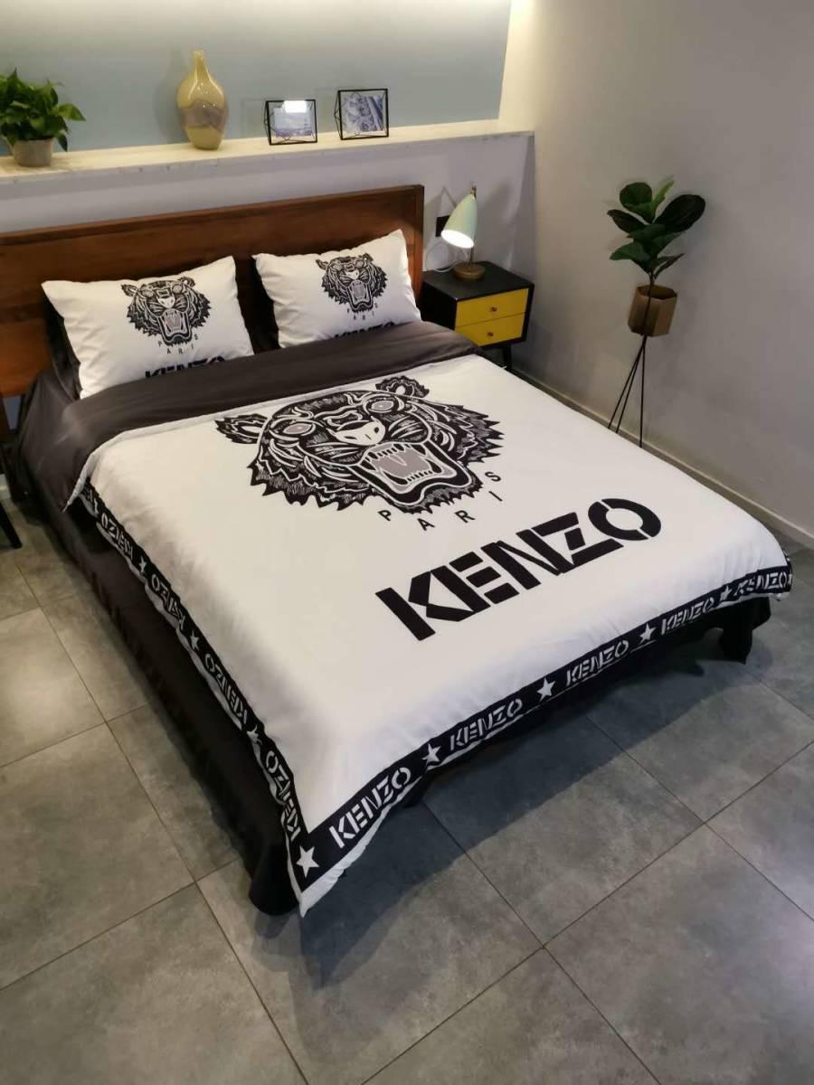 人気★ KENZO 寝具 4点セット掛け  カバーベッドシーツ 極美品 未使用_画像5