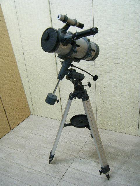 3あ23●天体望遠鏡 ASTRONOMICAL TELESCOPE D=114㎜ F=1000㎜ 1・5X H126~177㎝
