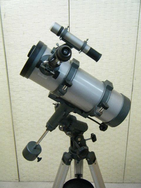 3あ23●天体望遠鏡 ASTRONOMICAL TELESCOPE D=114㎜ F=1000㎜ 1・5X H126~177㎝_画像2