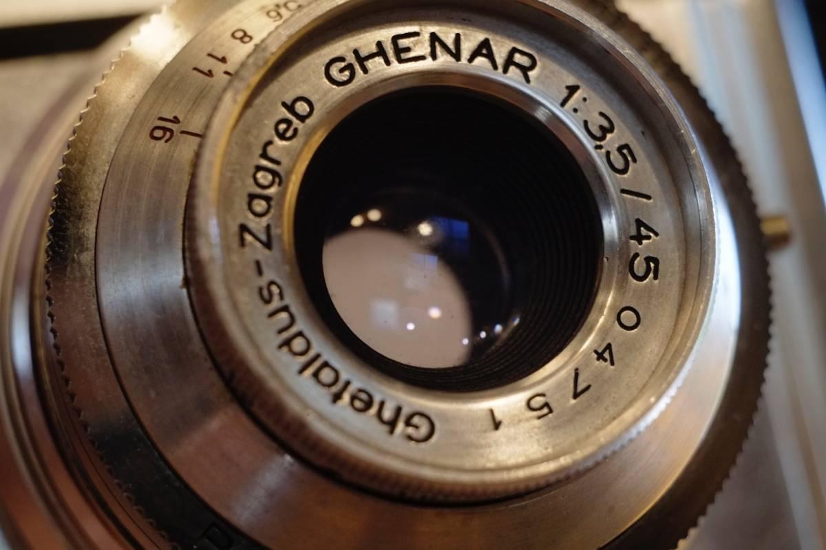 (珍品・実働美品) Ghetaldus-Zagreb Ghenar 45mm f/3.5 ユーゴスラビア製レンズ付 1950年代 King KG Regula IIb レグラ ヴィンテージ