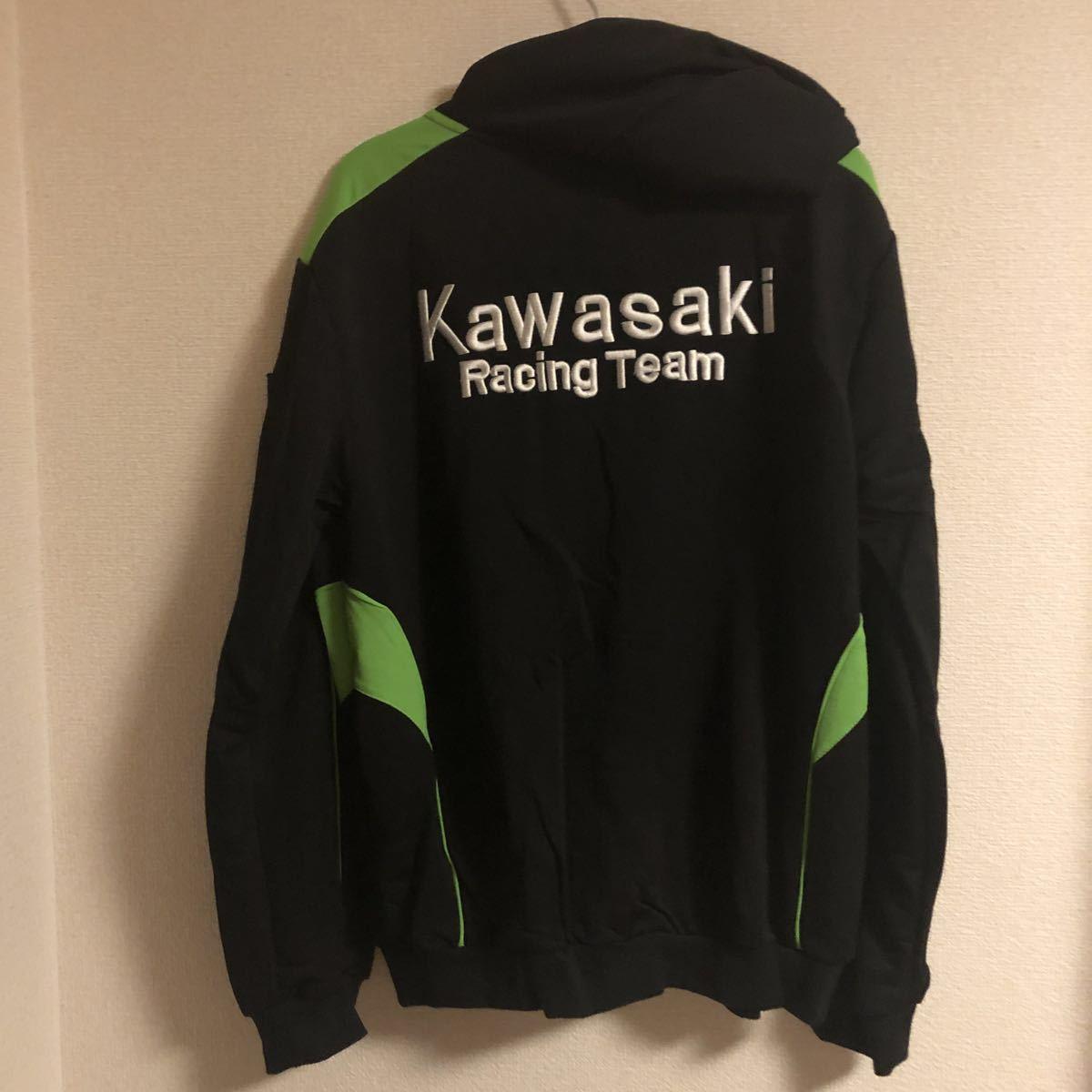 【最終値下】kawasaki racing team パーカーLサイズ 新品!_画像2