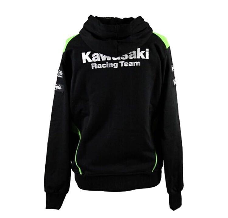 【最終値下】kawasaki racing team パーカーLサイズ 新品!_画像7