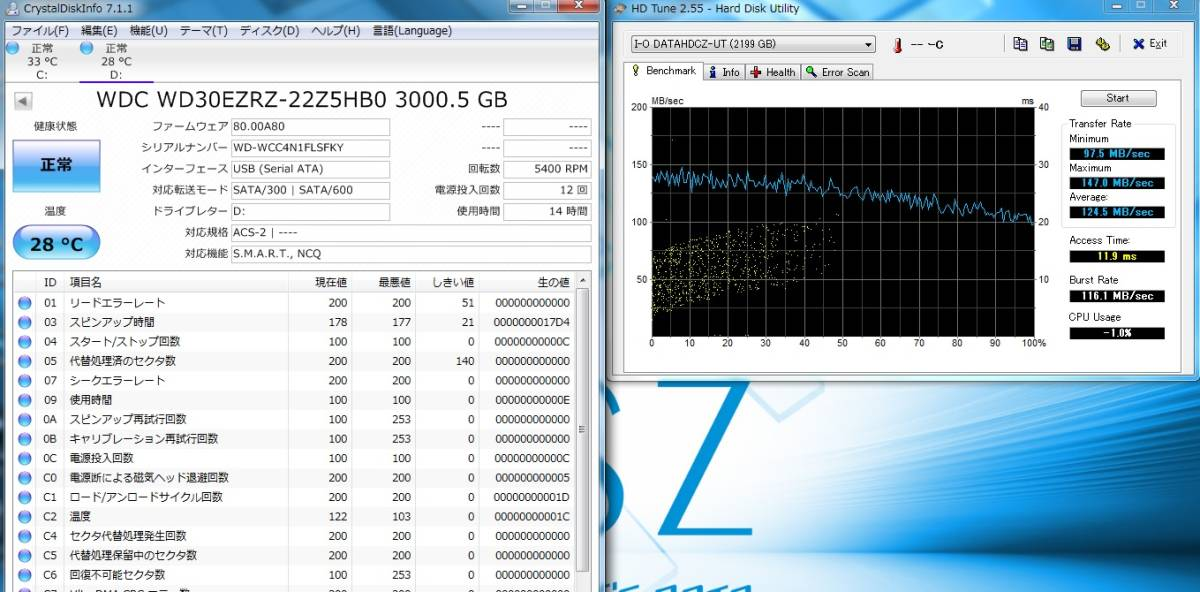 □◇I・O DATA USB3.0対応 HDCZ-UTL3K 3TB_画像4