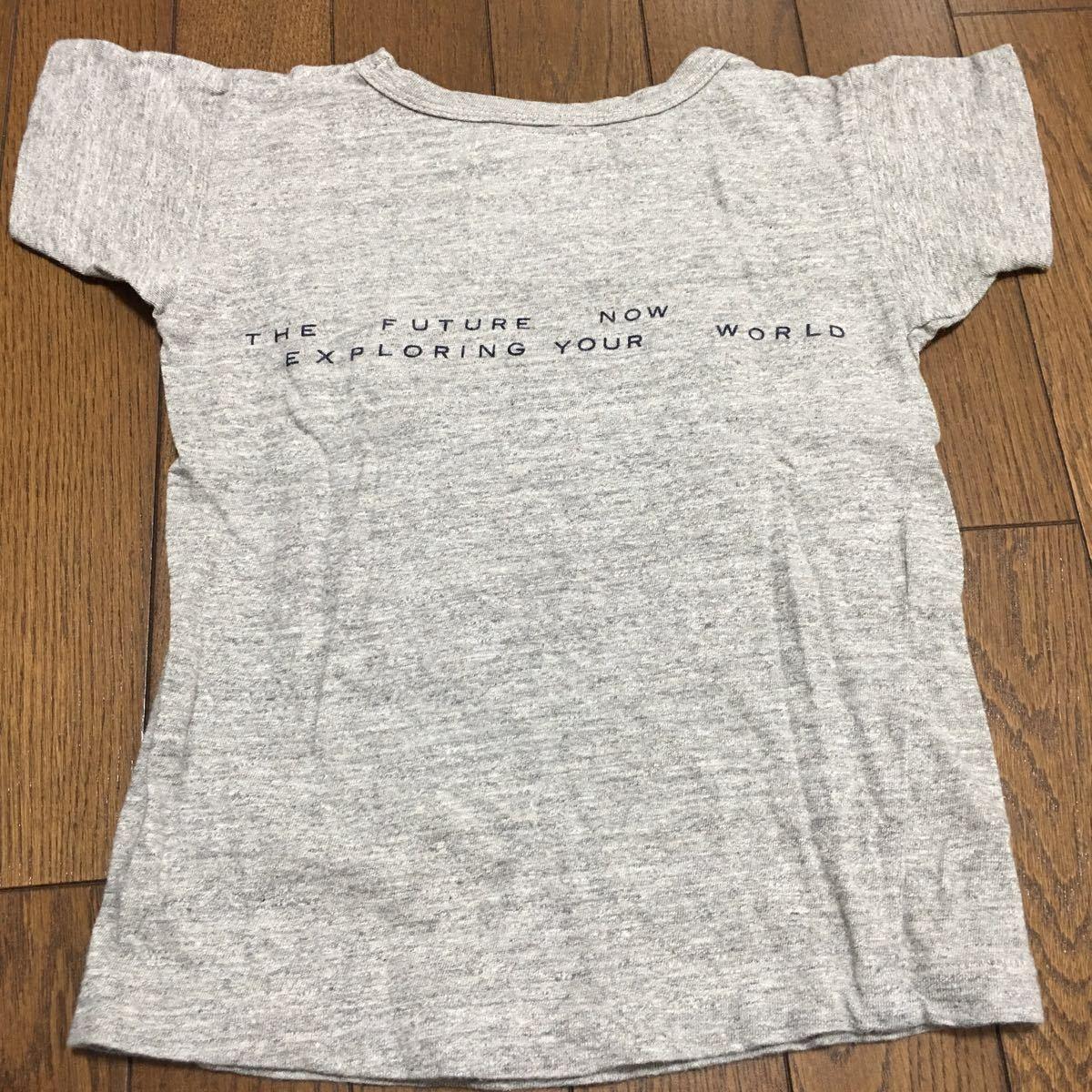 美品☆GO TO HOLLYWOOD・パッチワーク半袖Tシャツ☆120・杢グレー・FITHフィス・デニム&ダンガリー_画像5