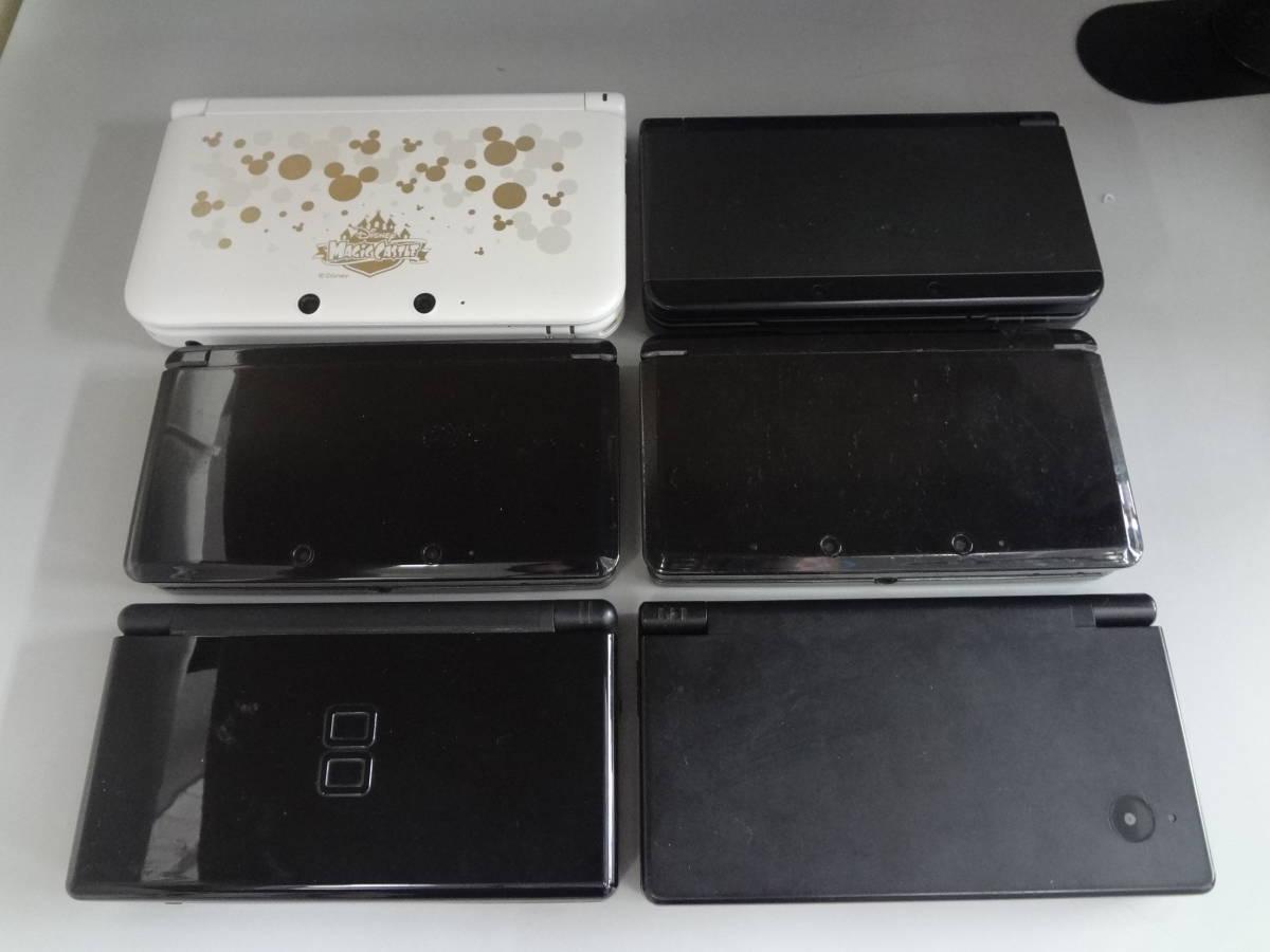 ニンテンドー new3DS/3DSLL(ディズニーモデル)/3DS/DSi/DSLite 本体のみ 6台セット 起動チェック・初期化済み 中古・ジャンク品