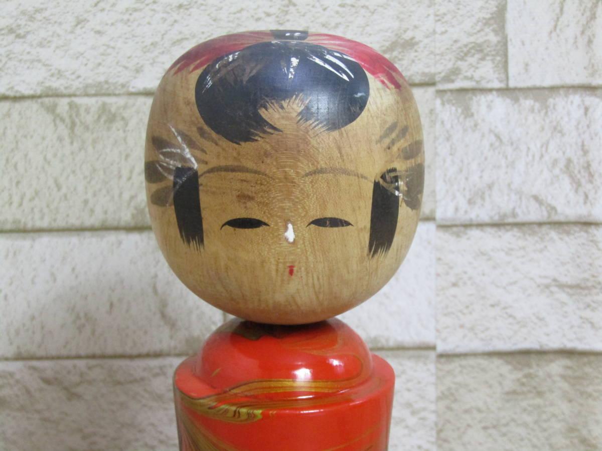 こけし 鳴子温泉 郷土玩具 龍文塗こけし (W-3822)_画像3