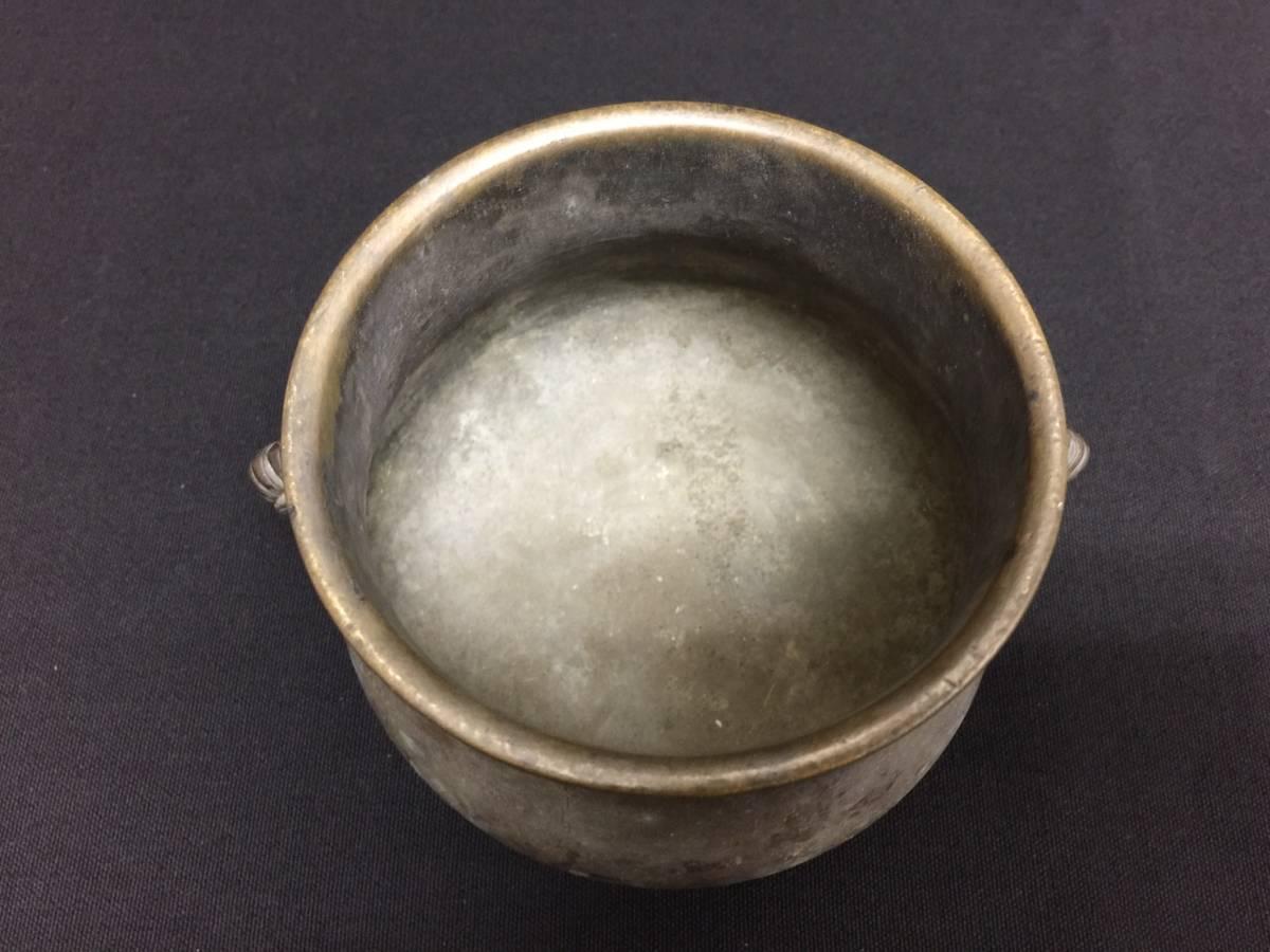 丸2買取本舗 山:大明宣徳年製 香炉 獣耳 古銅 中国美術 煎茶道具 _画像2