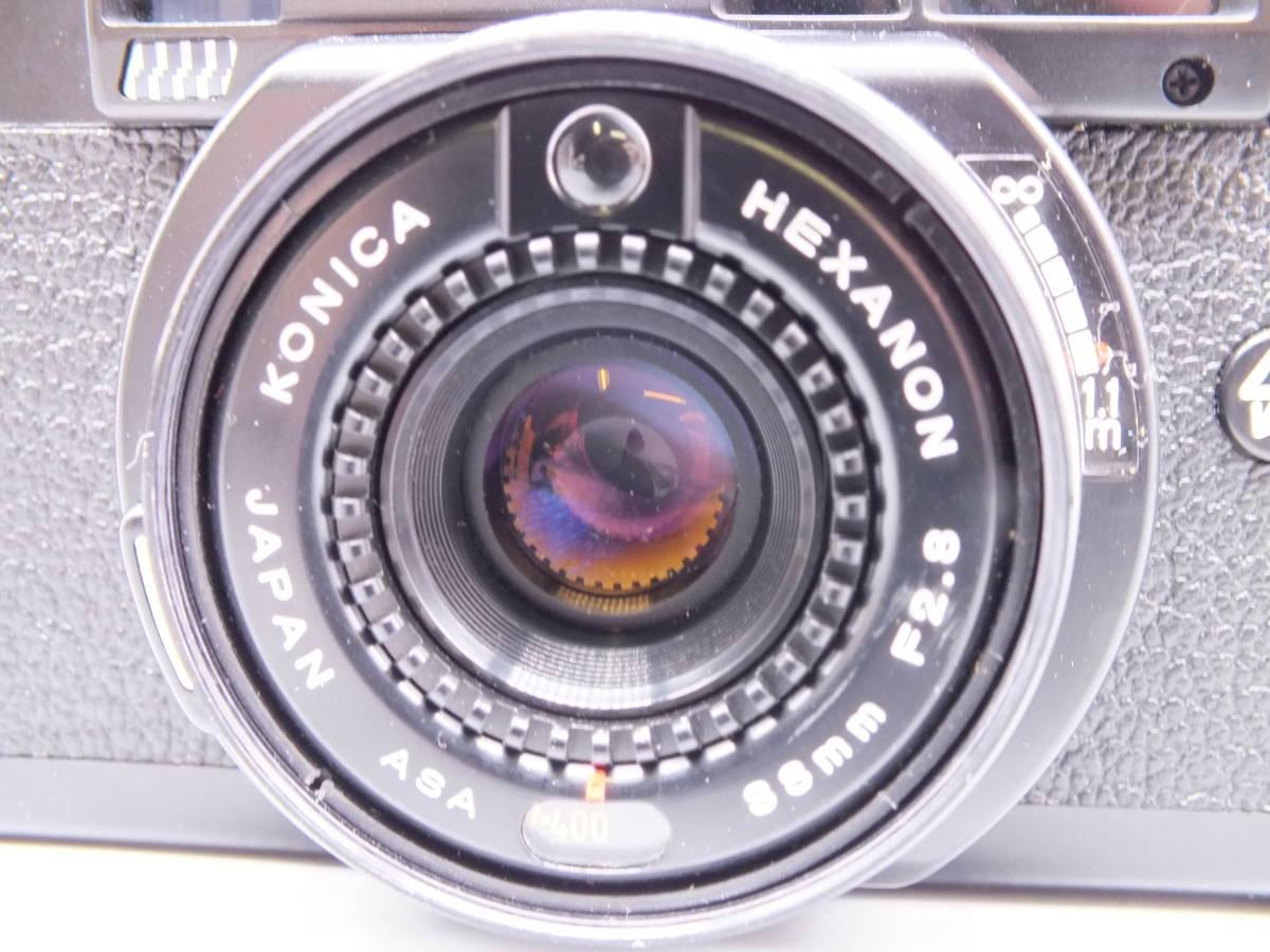 KONICA コニカ/C35 AF2/コンパクト フィルムカメラ/レンズ HEXANON 38mm F2.8/動作品/ケース・フィルター付属/管D0527_画像8