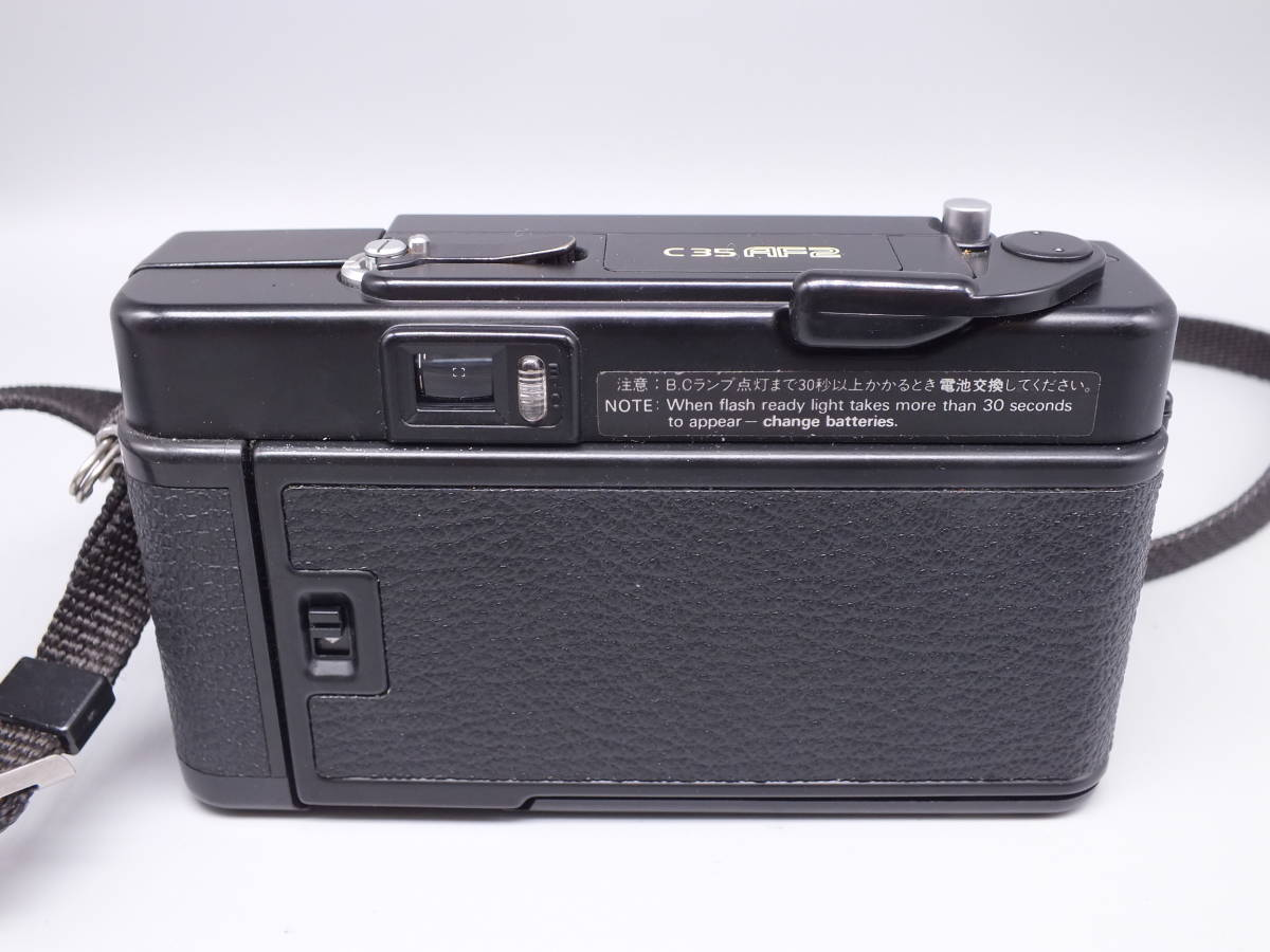 KONICA コニカ/C35 AF2/コンパクト フィルムカメラ/レンズ HEXANON 38mm F2.8/動作品/ケース・フィルター付属/管D0527_画像3