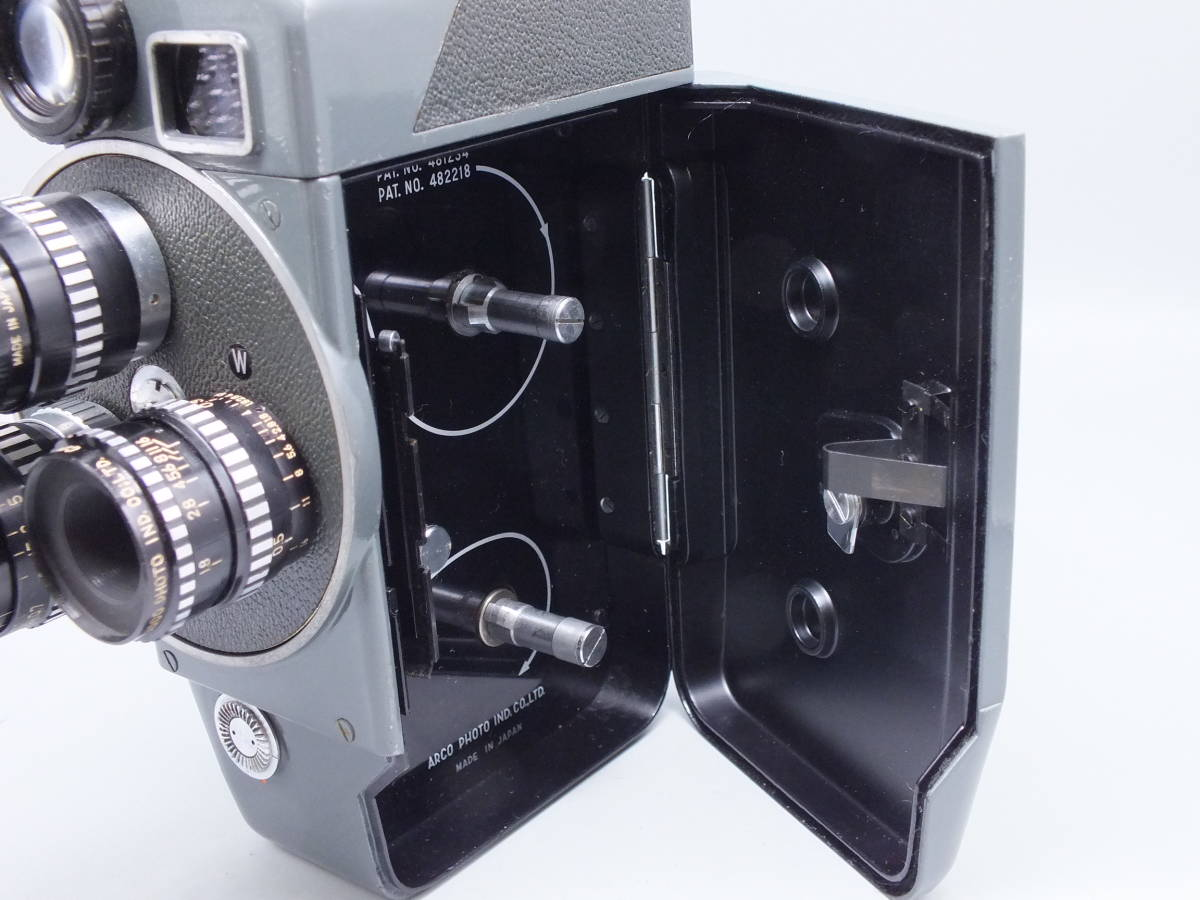 ARCO アルコ/Model CH-8/8mm CINE CAMERA/フィルムカメラ/シネカメラ/動作品/ゼンマイ/コレクション/取説 箱付属/管E0514_画像6