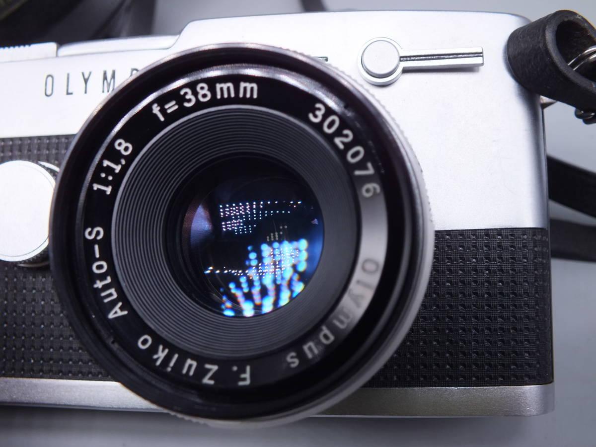 オリンパス/OLYMPUS-PEN F/レンズ F.Zuiko Auto-S 38mm 1:1.8/一眼レフカメラ フィルムカメラ/フード ケース フィルター付属/管F0513_画像3