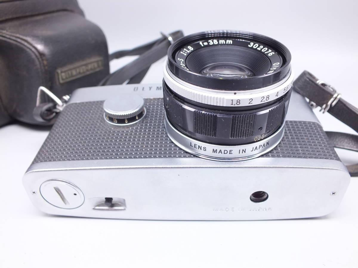 オリンパス/OLYMPUS-PEN F/レンズ F.Zuiko Auto-S 38mm 1:1.8/一眼レフカメラ フィルムカメラ/フード ケース フィルター付属/管F0513_画像4