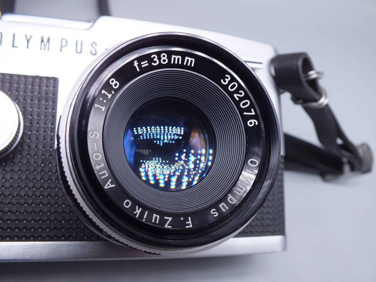 オリンパス/OLYMPUS-PEN F/レンズ F.Zuiko Auto-S 38mm 1:1.8/一眼レフカメラ フィルムカメラ/フード ケース フィルター付属/管F0513_画像2