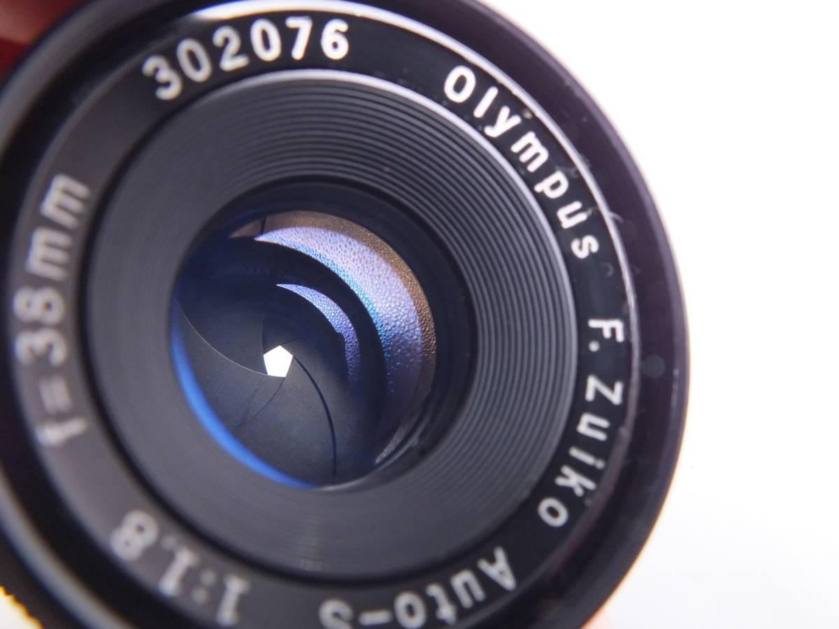 オリンパス/OLYMPUS-PEN F/レンズ F.Zuiko Auto-S 38mm 1:1.8/一眼レフカメラ フィルムカメラ/フード ケース フィルター付属/管F0513_画像9