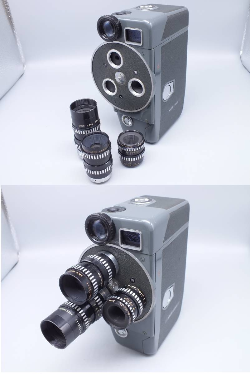 ARCO アルコ/Model CH-8/8mm CINE CAMERA/フィルムカメラ/シネカメラ/動作品/ゼンマイ/コレクション/取説 箱付属/管E0514_画像3