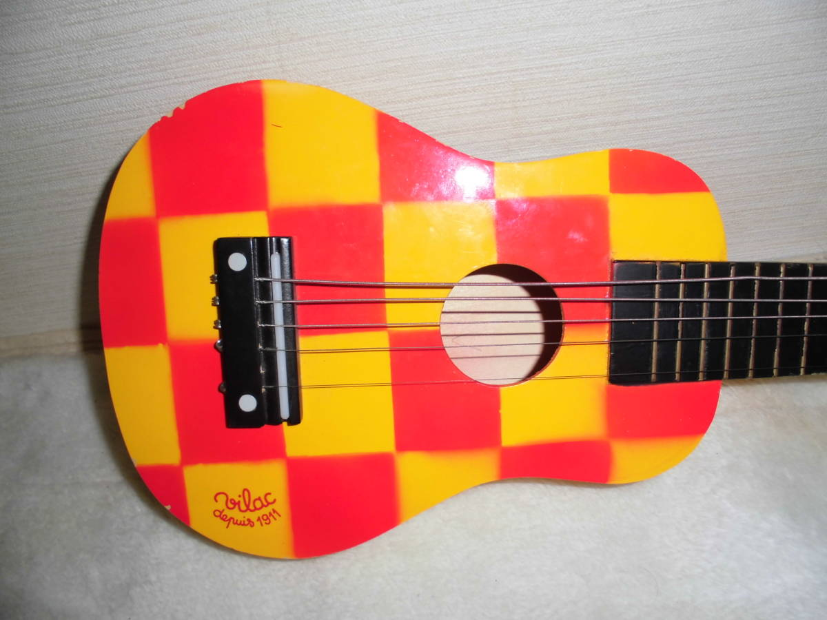 あ419 vilac ヴィラック  ミニギター 子供用ギター ジャンク品_画像2