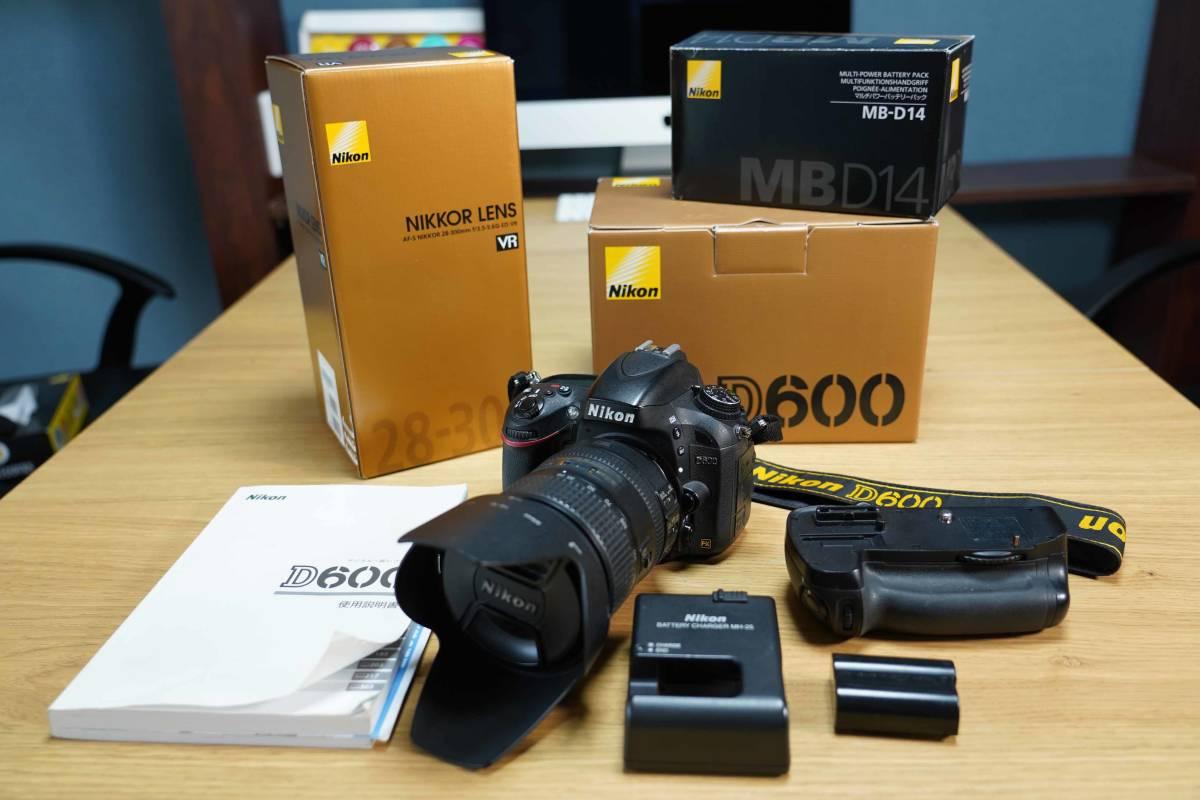 NIKON D600/NIKKOR 28-300mm/MB-D14 セットで。フルサイズ一眼入門に最適!