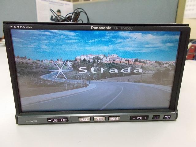 Panasonic ストラーダCN-HW850D多機能モデル!フルセグ 地デジ内臓 4x4 高画質 スマホUSB接続 iPod