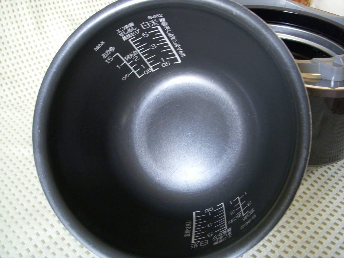 象印 圧力IH炊飯ジャー NP-WD10 極め羽釜 5,5合炊き 15年製_画像8