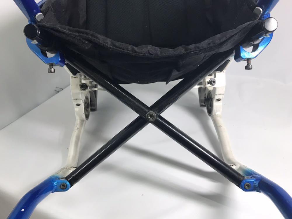 スポーツ・競技向け 車椅子 OXエンジニアリング 380R フレームのみ タイヤ無し 中古品_画像6