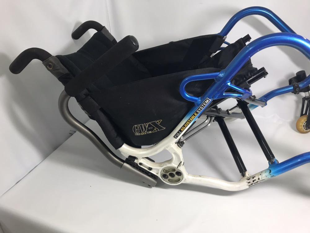 スポーツ・競技向け 車椅子 OXエンジニアリング 380R フレームのみ タイヤ無し 中古品_画像8