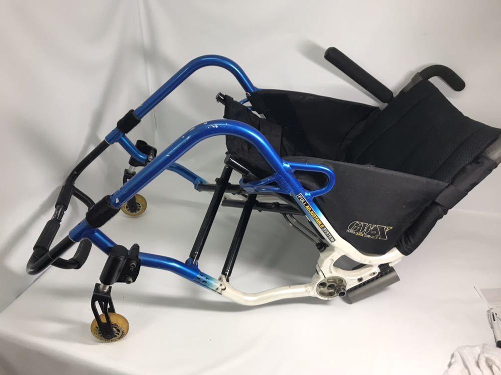 スポーツ・競技向け 車椅子 OXエンジニアリング 380R フレームのみ タイヤ無し 中古品