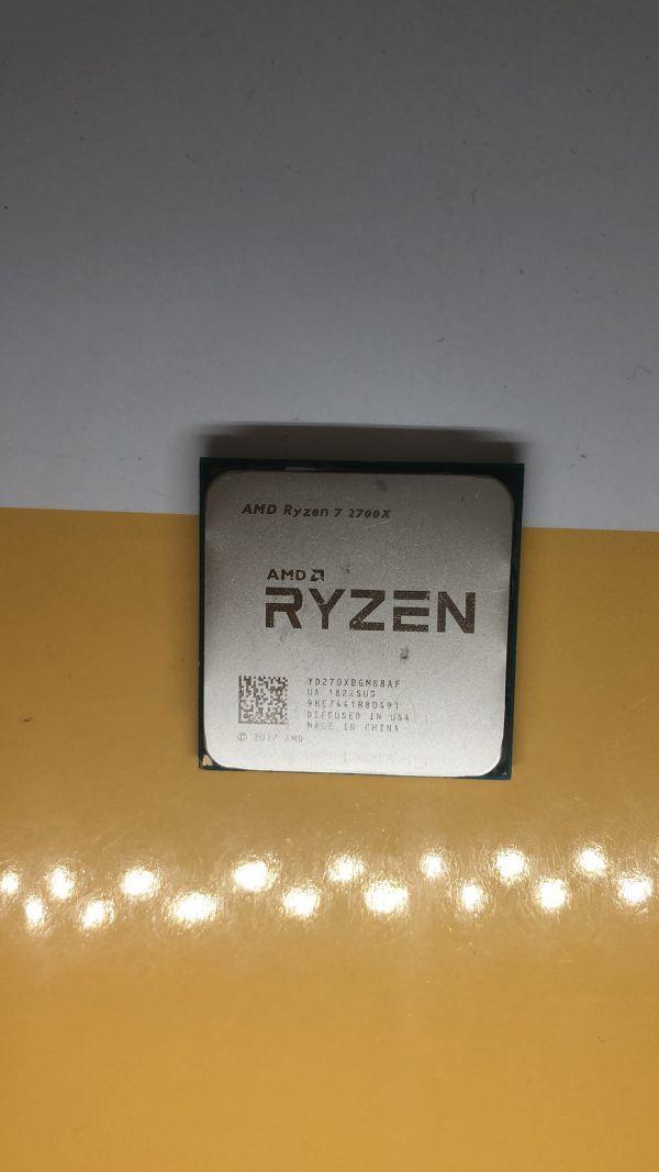 AMD CPU Ryzen 7 2700X 3.7GHz ソケットSocket AM4  動作未確認